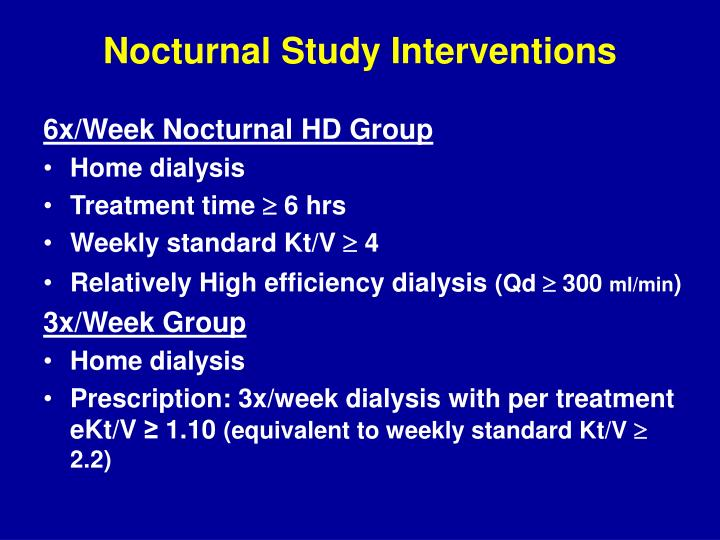 Nocturnal Study Interventions