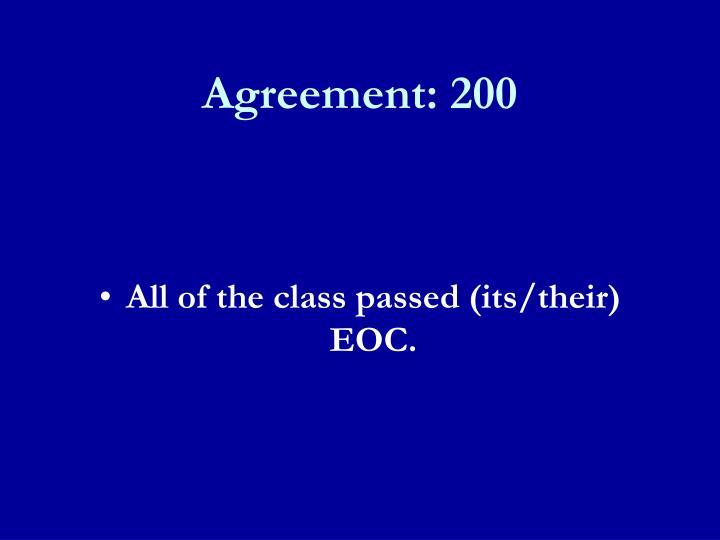Agreement: 200