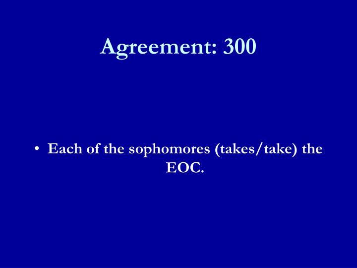 Agreement: 300