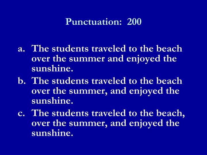 Punctuation:  200