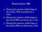 punctuation 4001