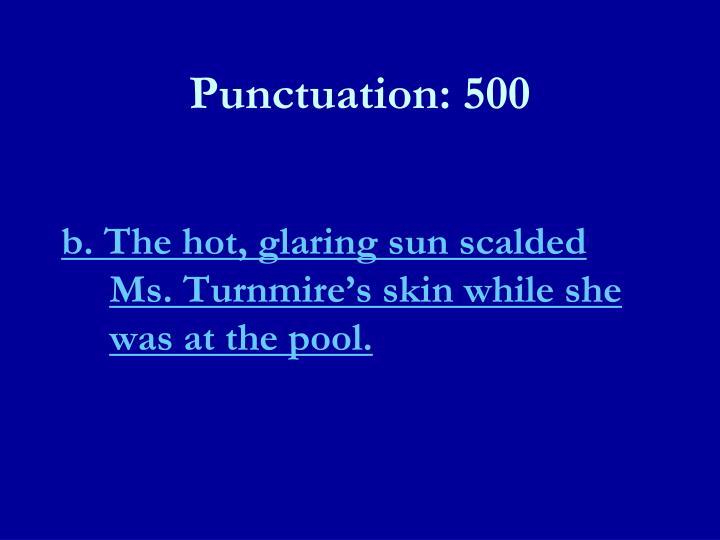 Punctuation: 500