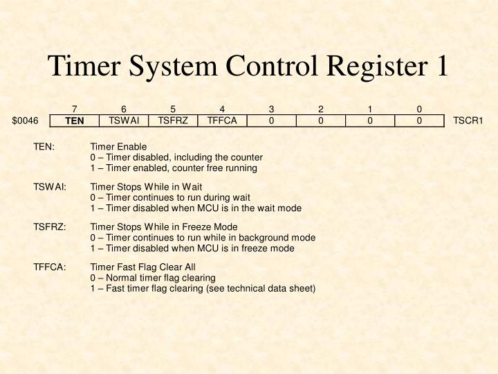 Timer System Control Register 1