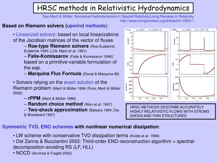 See Martí & Müller, Numerical Hydrodynamics in Special Relativity,Living Reviews in Relativity,