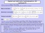 numerical relativistic hydrodynamics av methods ii