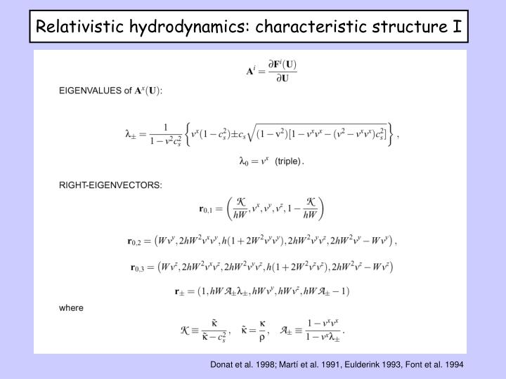 Relativistic hydrodynamics: characteristic structure I