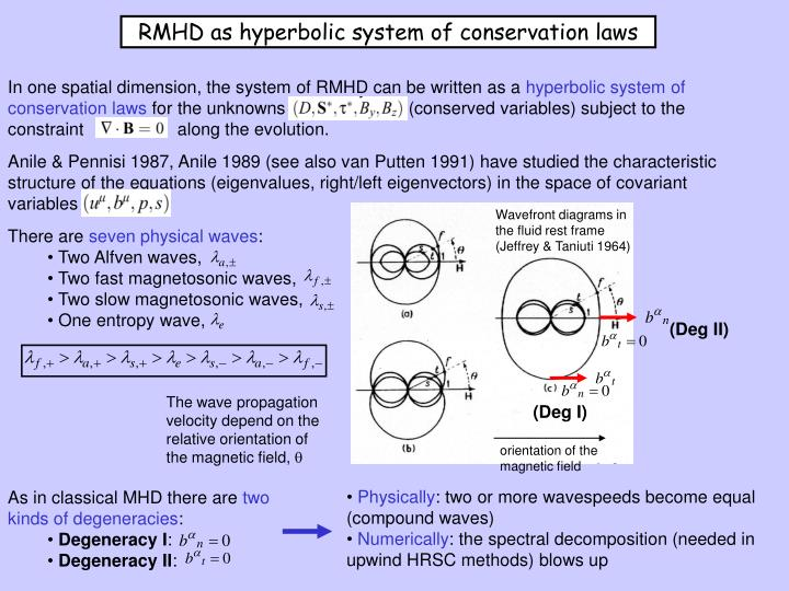 RMHD as hyperbolic system of conservation laws