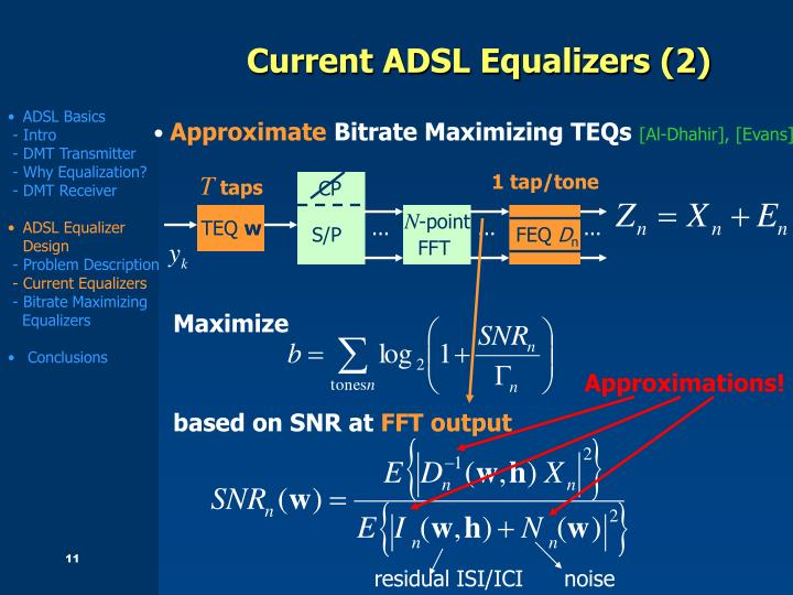 Current ADSL Equalizers (2)