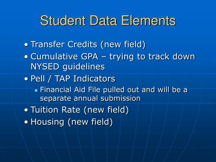Student Data Elements