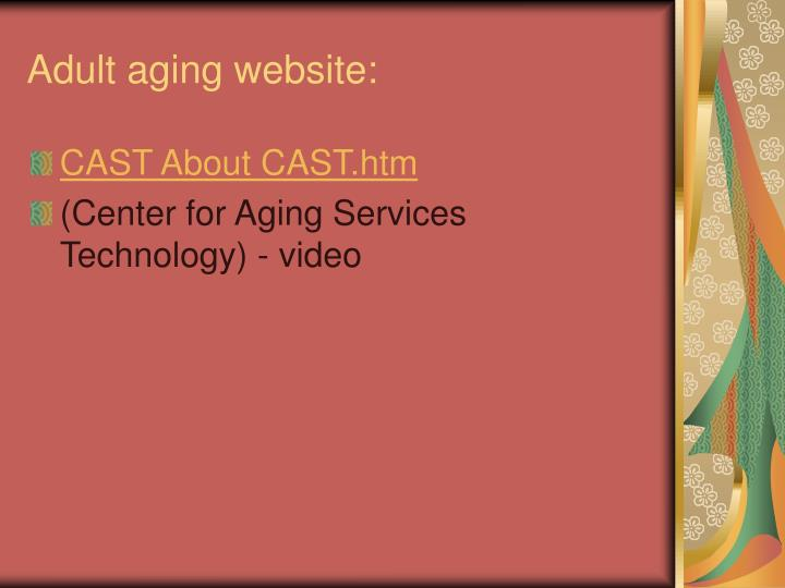 Adult aging website: