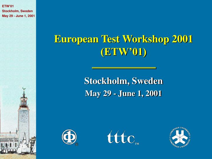 European test workshop 2001 etw 01