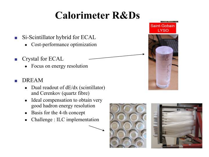 Calorimeter R&Ds