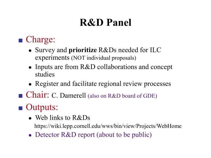 R&D Panel