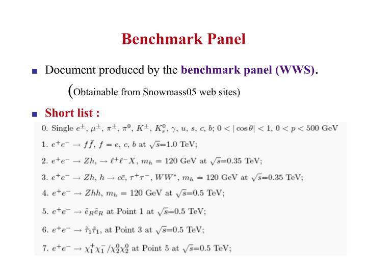 Benchmark Panel