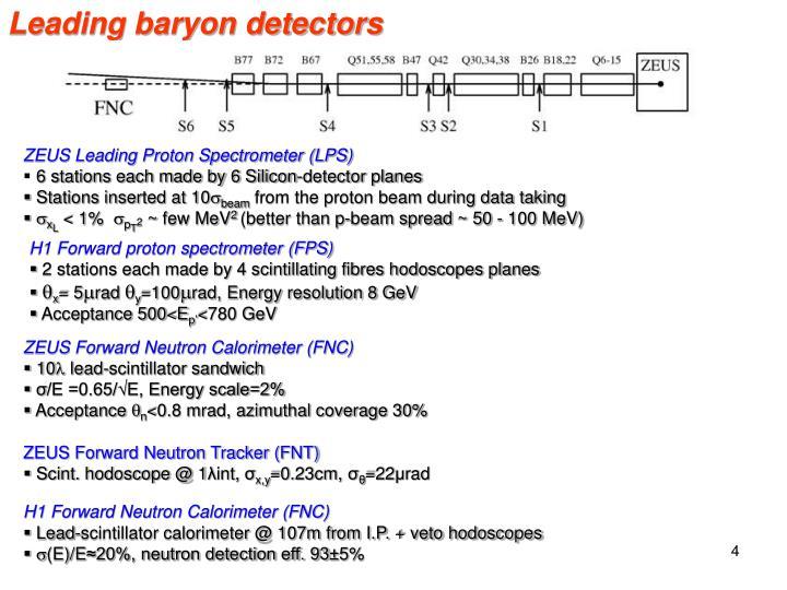 Leading baryon detectors