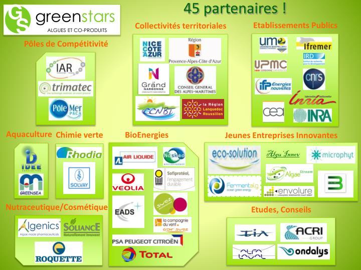 45 partenaires !