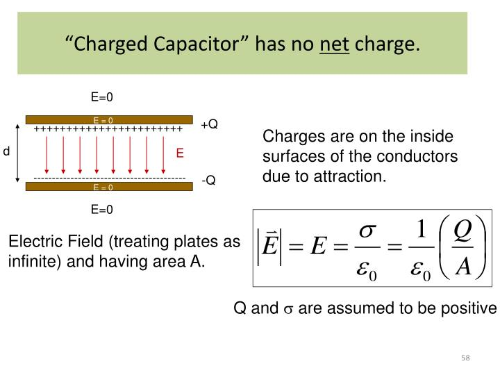 """Charged Capacitor"" has no"