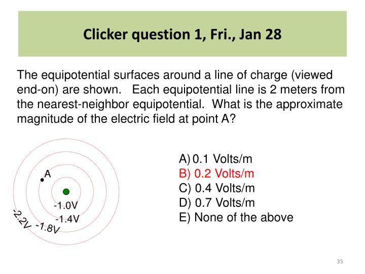 Clicker question 1, Fri., Jan 28
