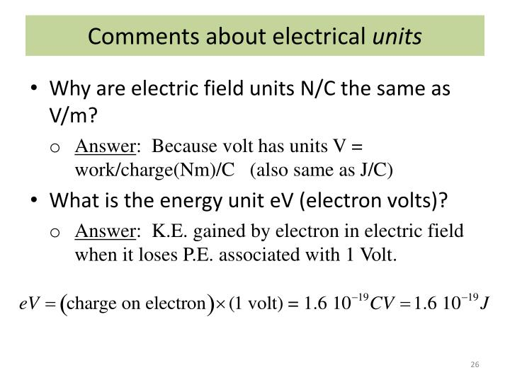Comments about electrical