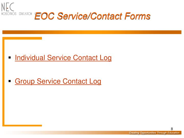 EOC Service/Contact Forms