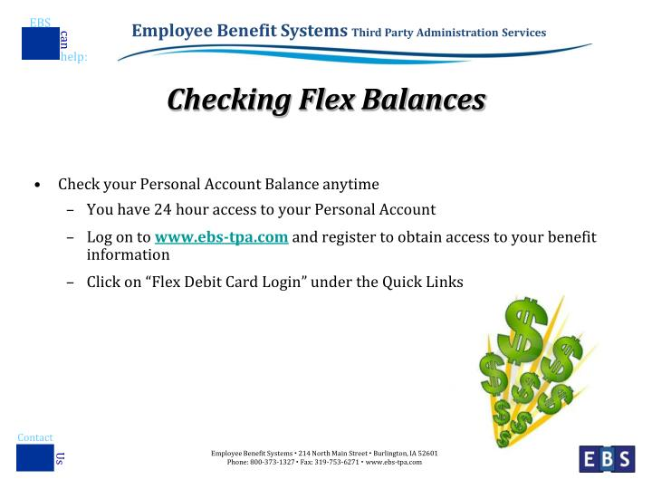 Checking Flex Balances