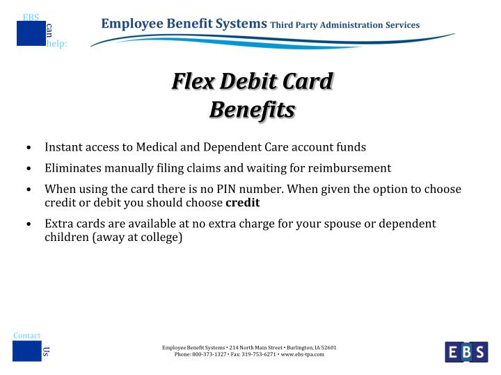 Flex debit card benefits