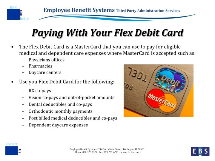 Paying with your flex debit card