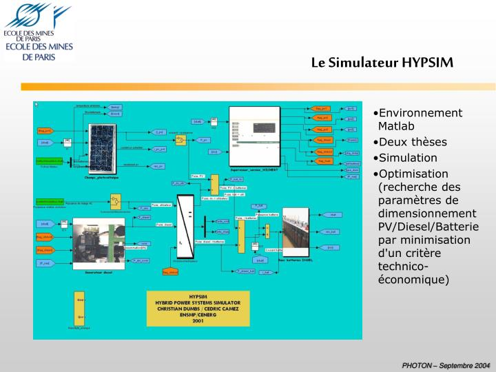 Le Simulateur HYPSIM