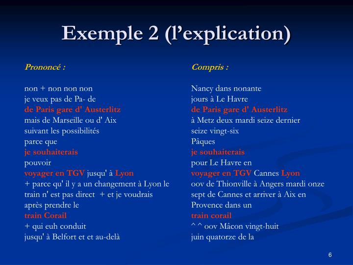 Exemple 2 (l'explication)