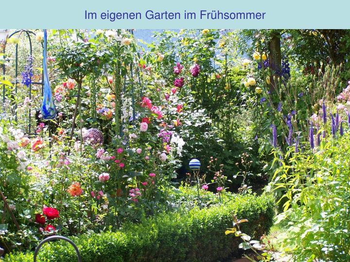 Im eigenen Garten im Frühsommer