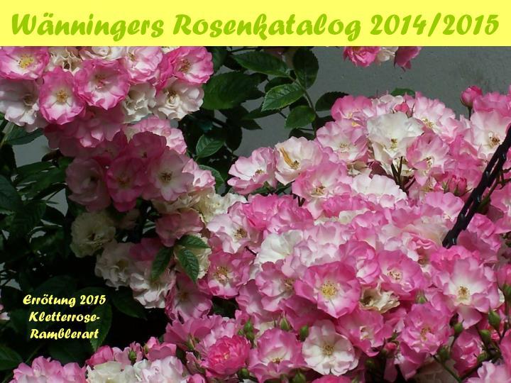 Wänningers Rosenkatalog 2014/2015