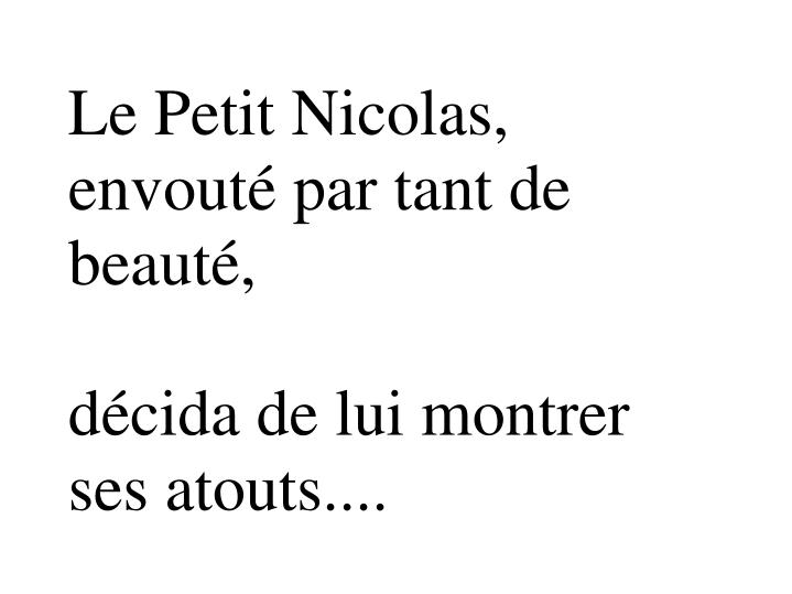 Le Petit Nicolas, envouté par tant de beauté,