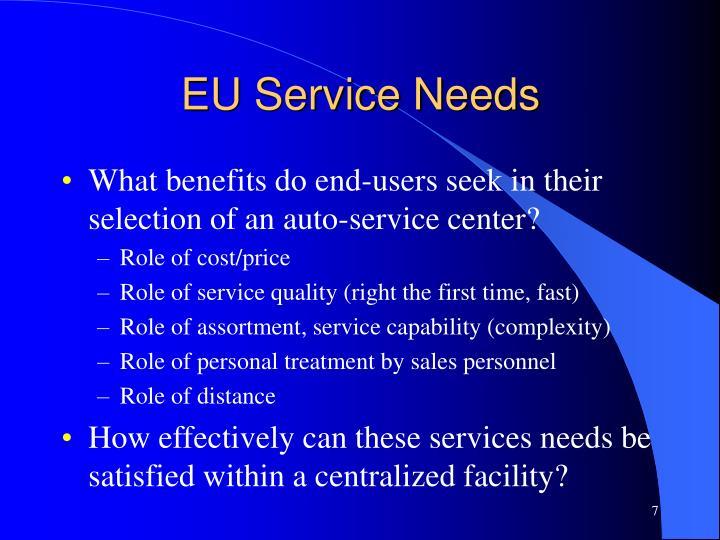 EU Service Needs