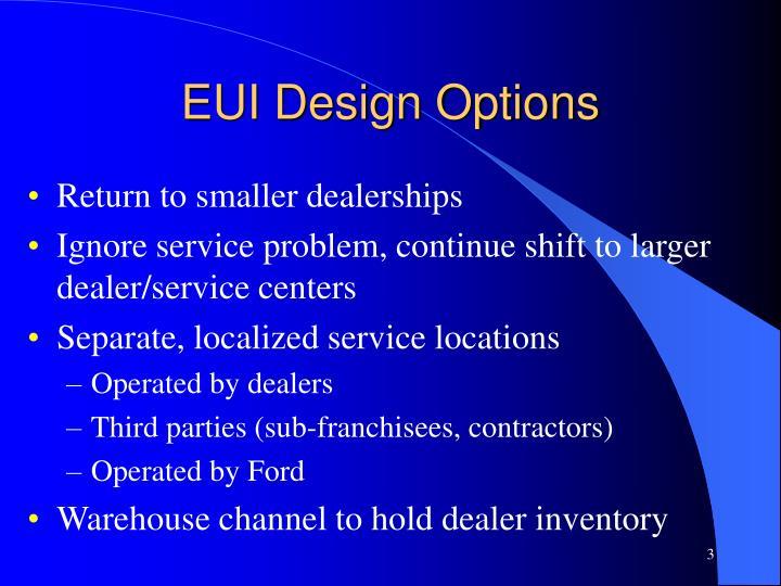 EUI Design Options