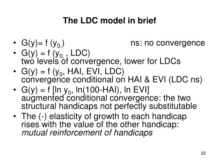 The LDC model in brief