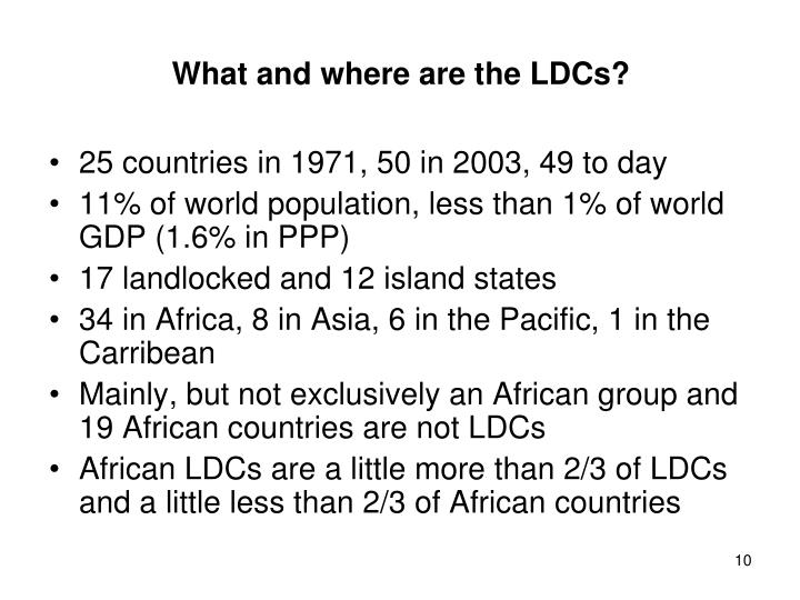 What and where are the LDCs?