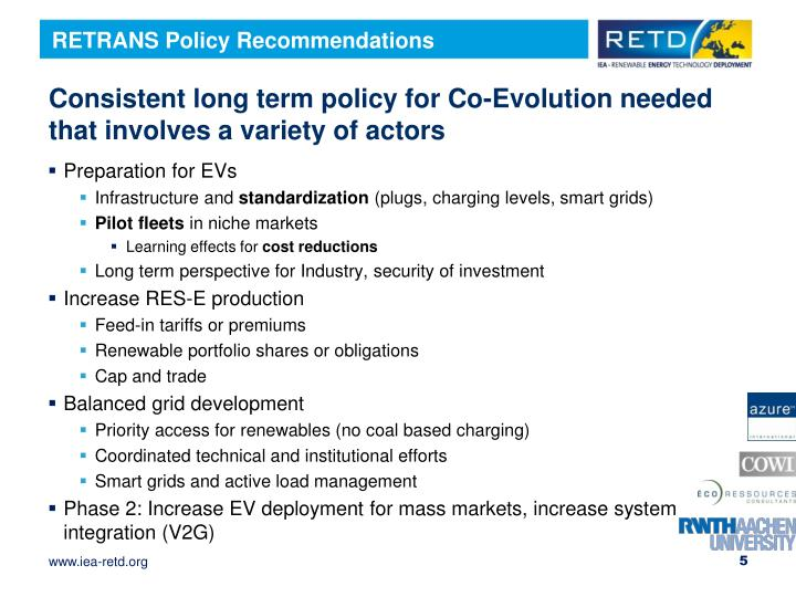 RETRANS Policy Recommendations