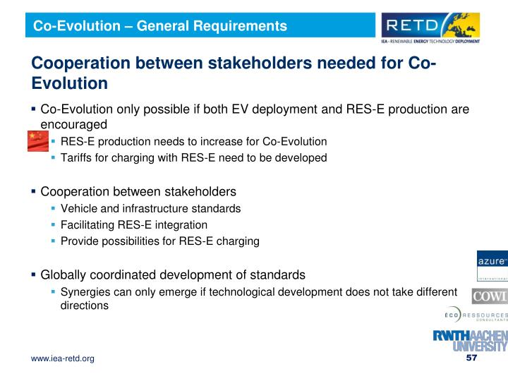 Co-Evolution – General Requirements