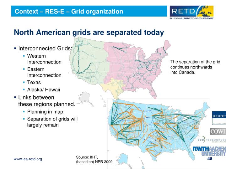 Context – RES-E – Grid organization