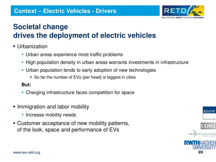 Context – Electric Vehicles - Drivers