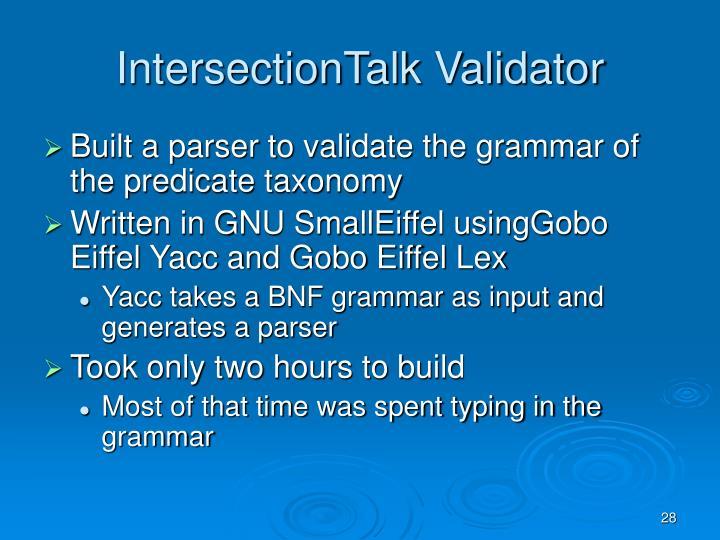 IntersectionTalk Validator