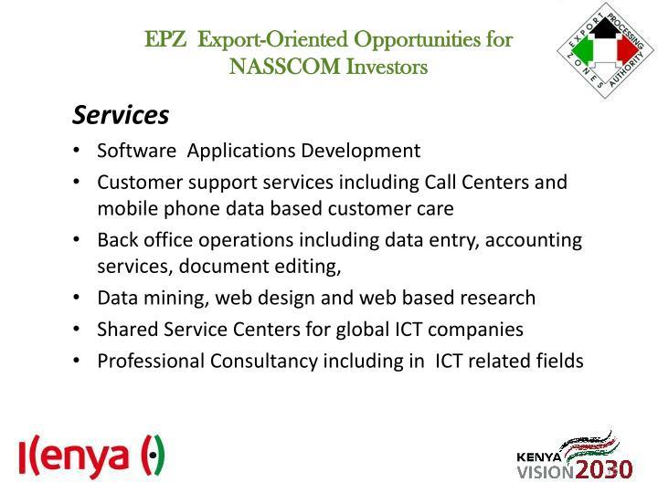 EPZ  Export-Oriented Opportunities for
