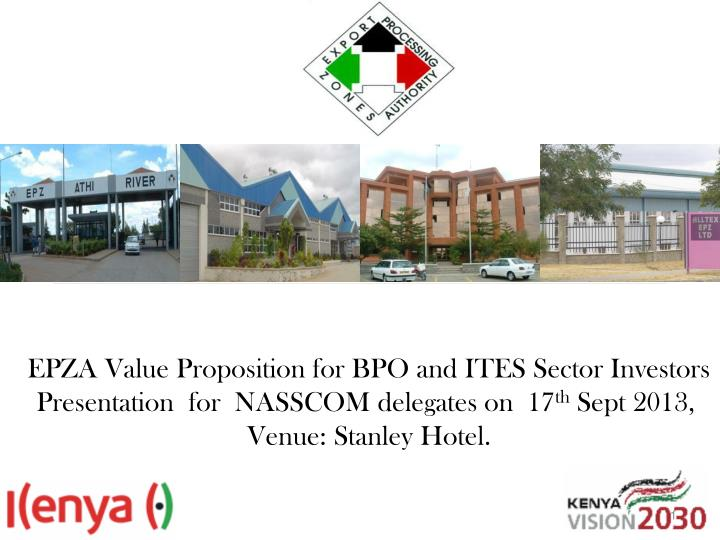 EPZA Value Proposition for BPO and ITES Sector Investors
