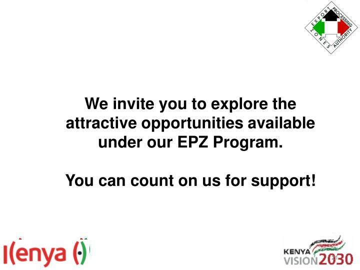 We invite you to explore the