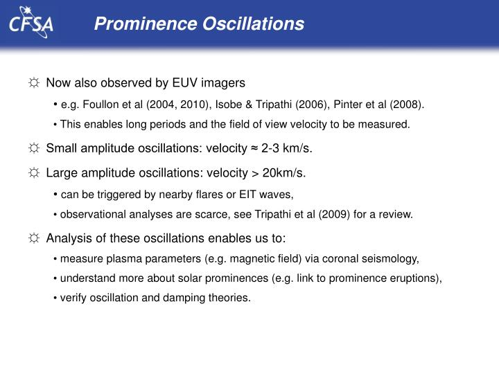 Prominence Oscillations