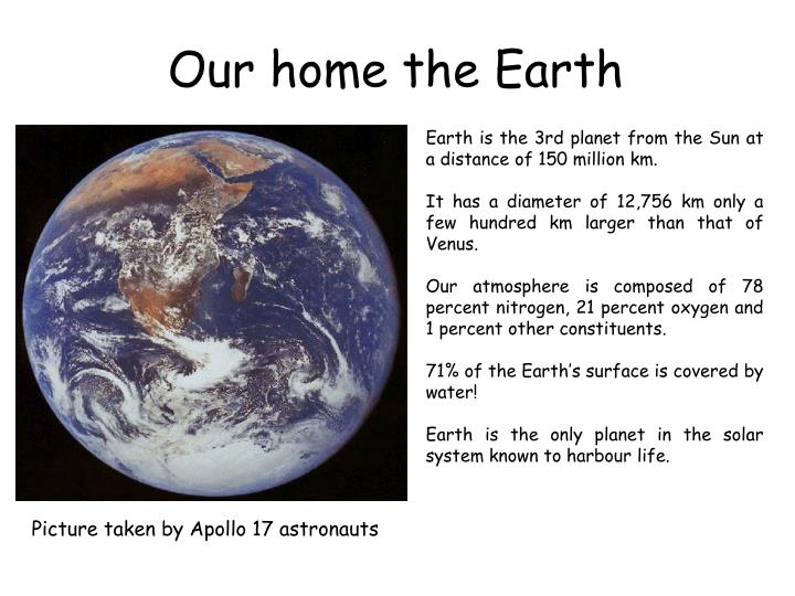 Our home the Earth
