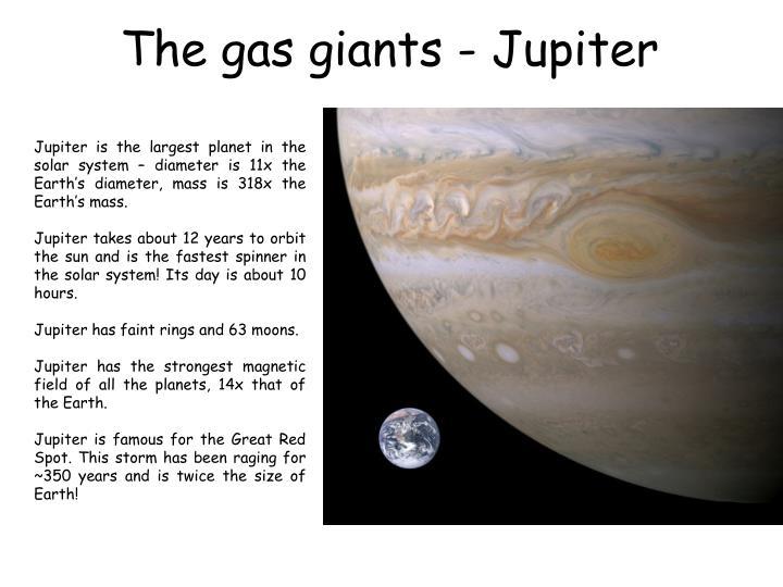 The gas giants - Jupiter