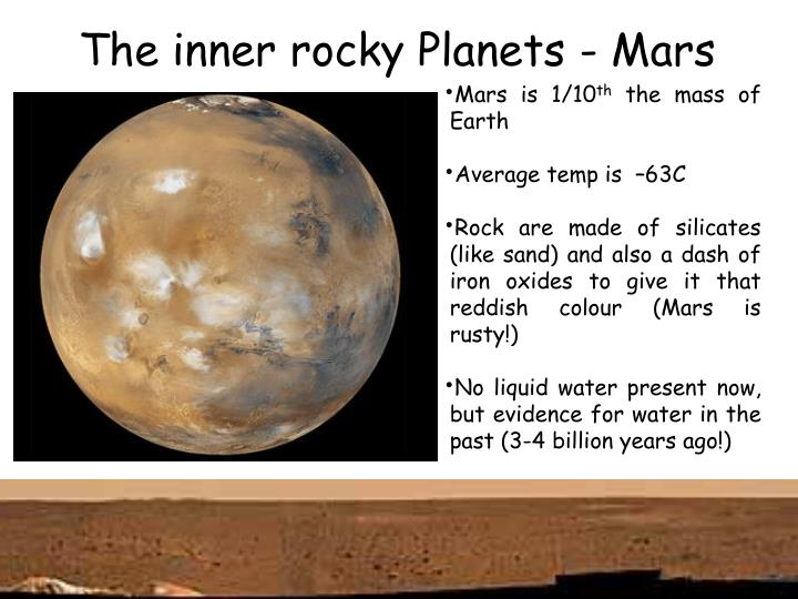 The inner rocky Planets - Mars
