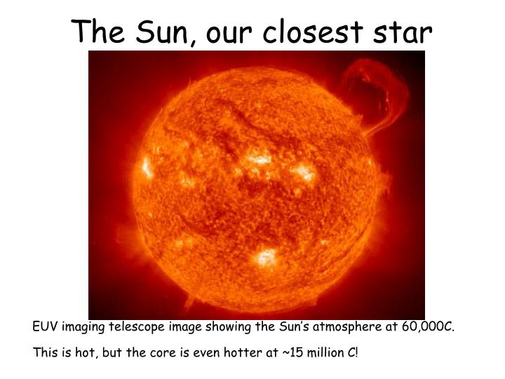 The Sun, our closest star