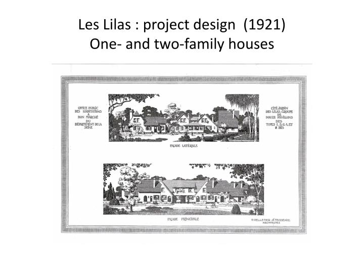 Les Lilas : project design  (1921)